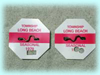 1978 Punched Beach Badges