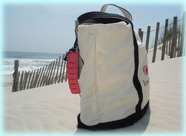 Beach Bag With Clip Attached