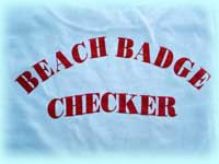 Back of T-Shirt, Beach Badge Checker